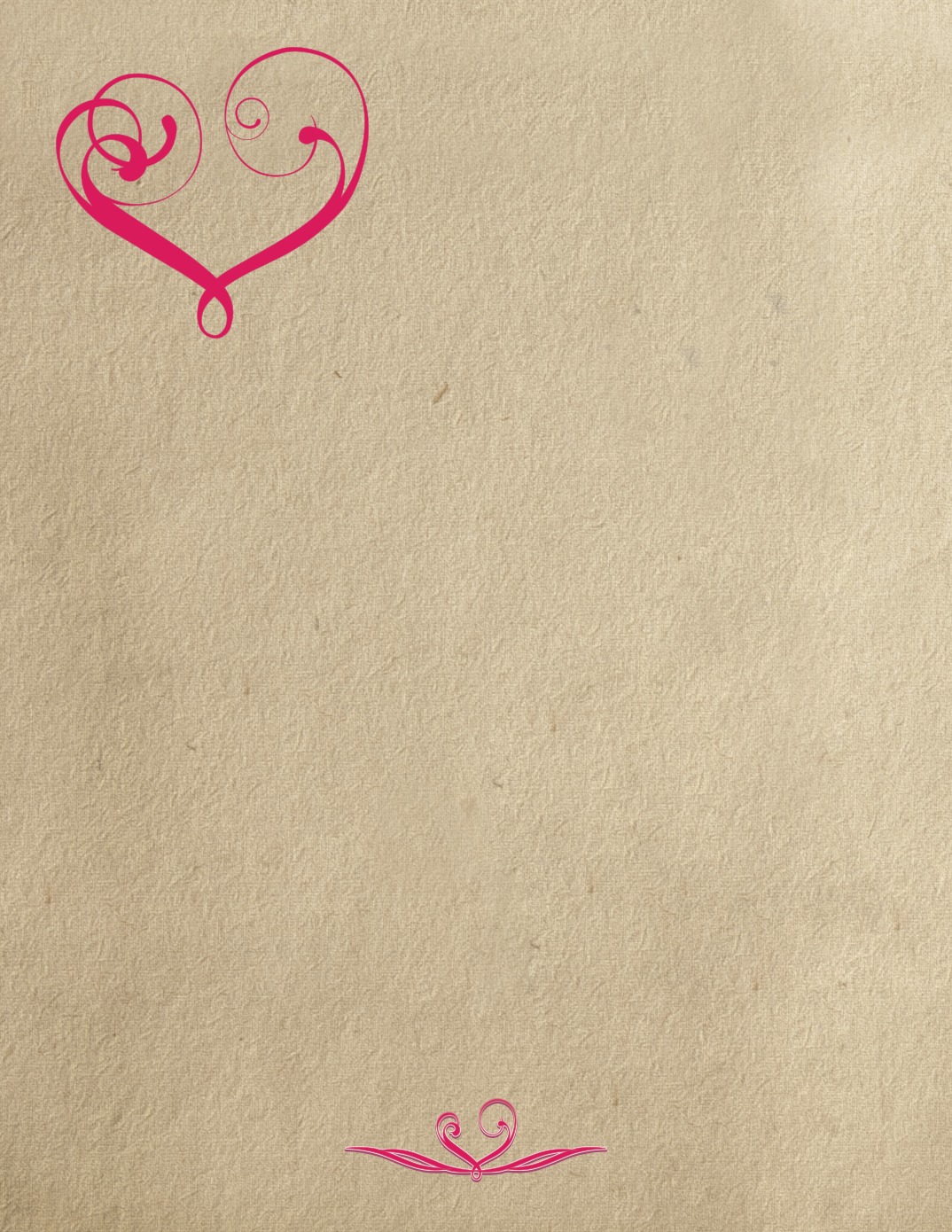 printable love writing paper