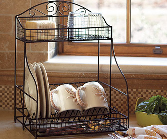 antique dish rack
