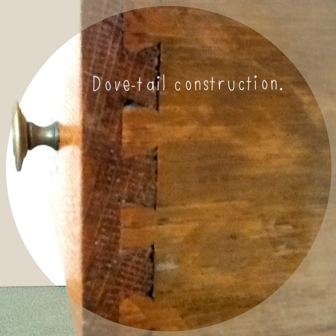 Dove-tail construction