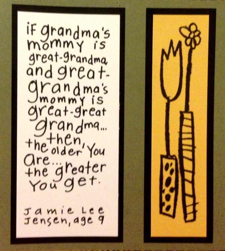 The older you are...the grander you get!