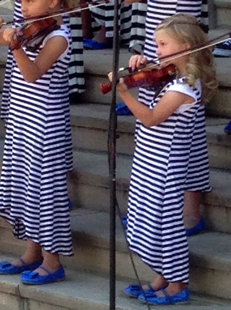 Makena playing her violin!