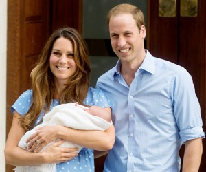 Prince Willaim and Kate Middleton and their new baby.