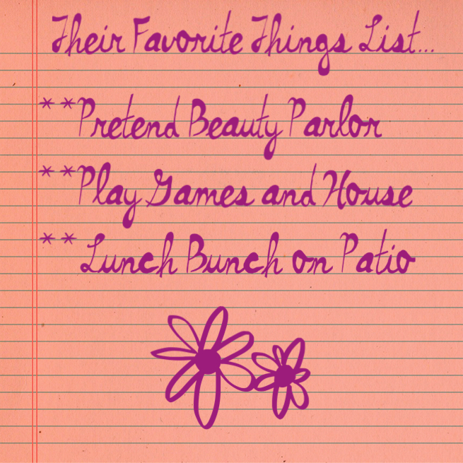 """Favorite things"" List www.mytributejournal.com"