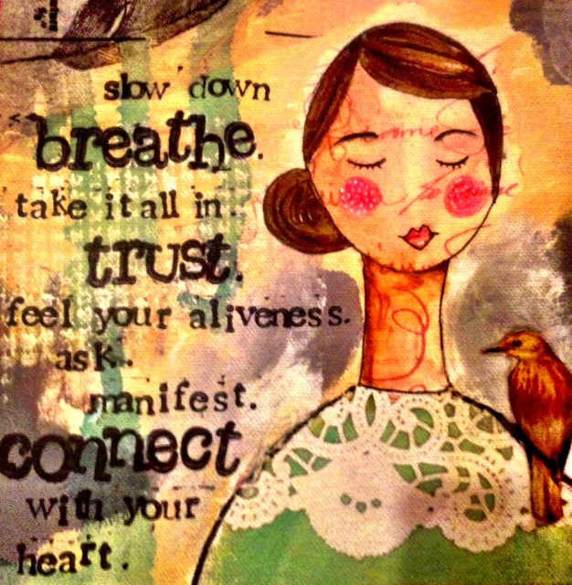 """Just Breathe"" quote! www.mytributejournal.som"
