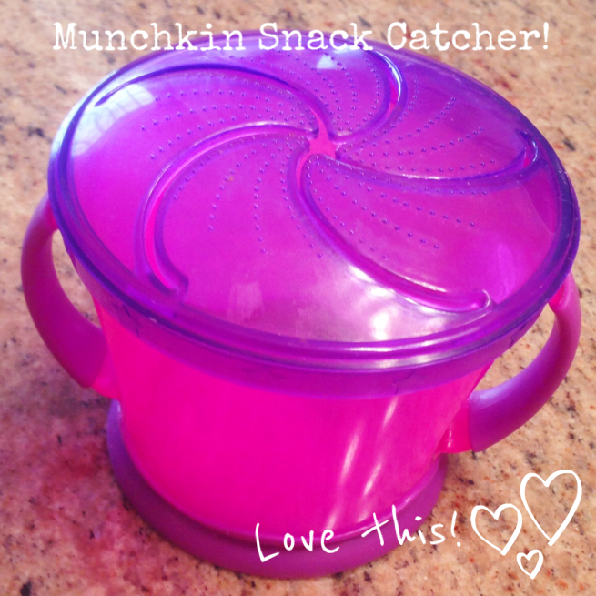 Munchkin Snack Catcher! Grandma's favorite things! www.mytributejournal.com