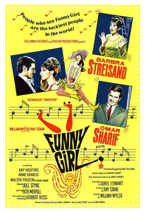 "Vintage ""Funny Girl"" movie poster www.mytributejournal.com"