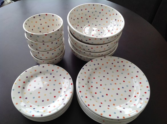 Fishs Eddy Polka Dot dishes www.mytributejournal.com