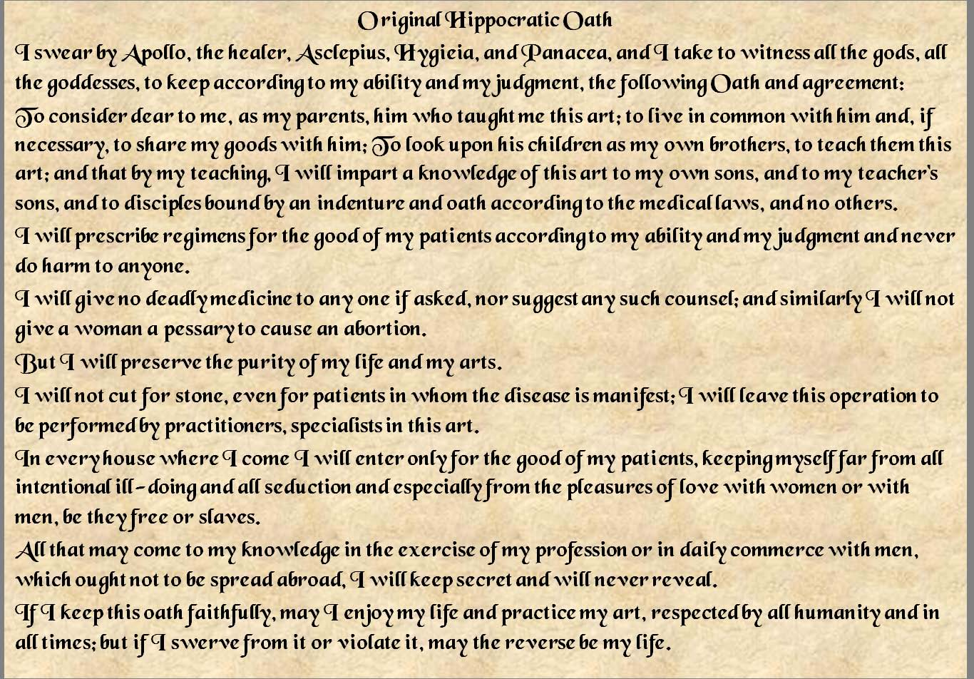how to write an oath