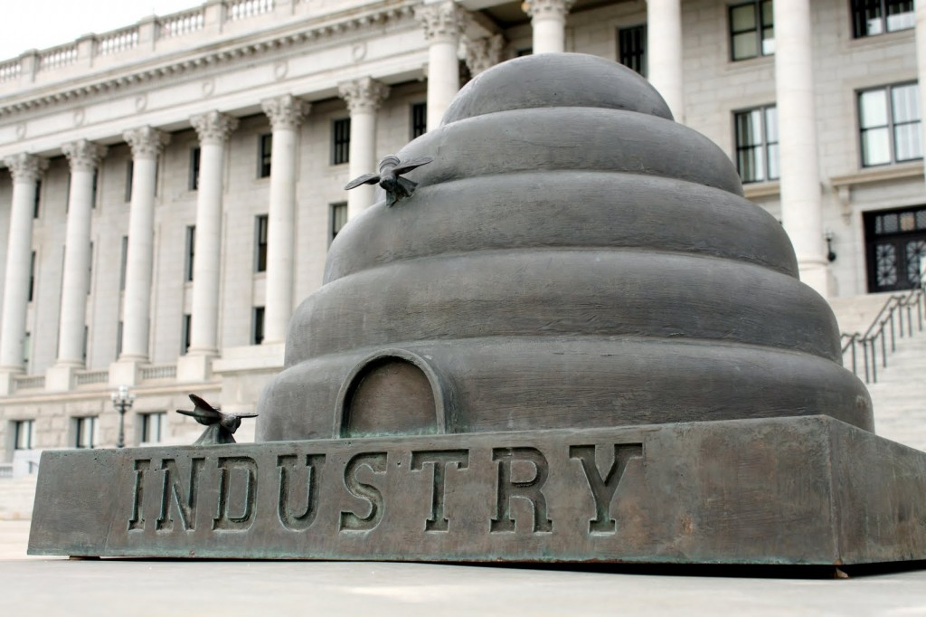 Industry--Utahs motto www.mytributejournal.com