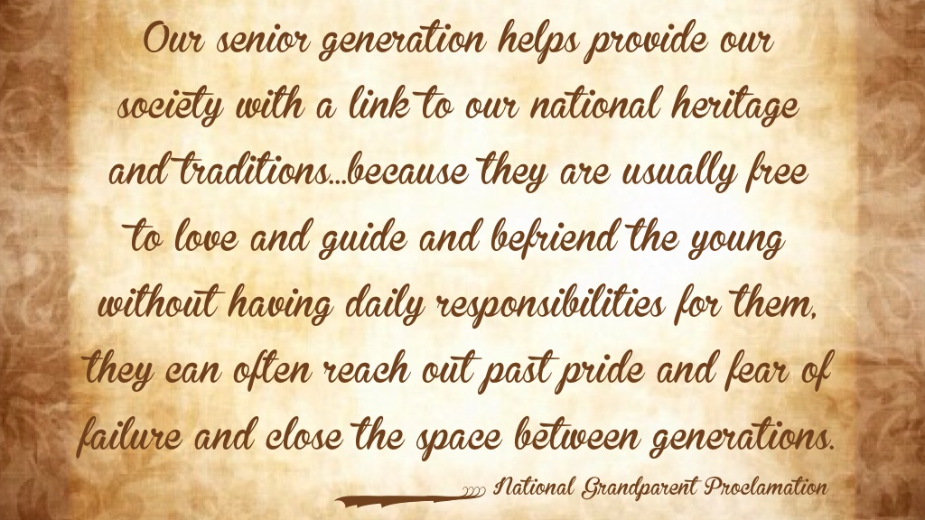 National grandparents Proclamation www.mytributejournal.com