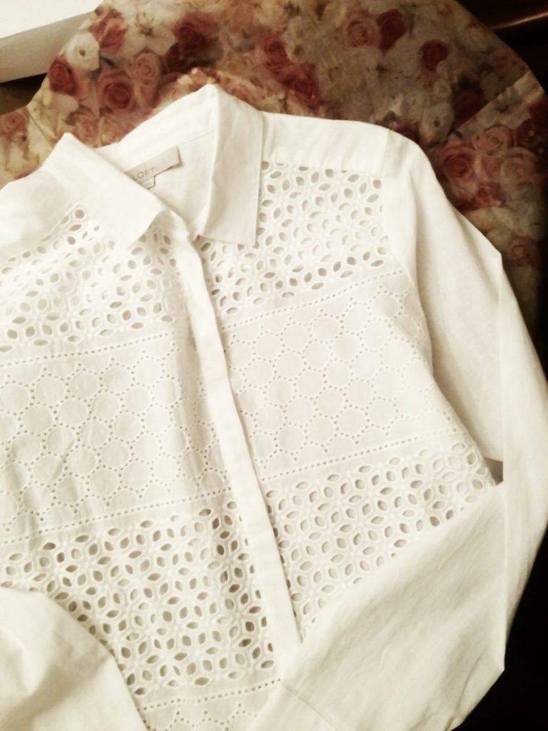 White eyelet shirt www.mytributejournal.com