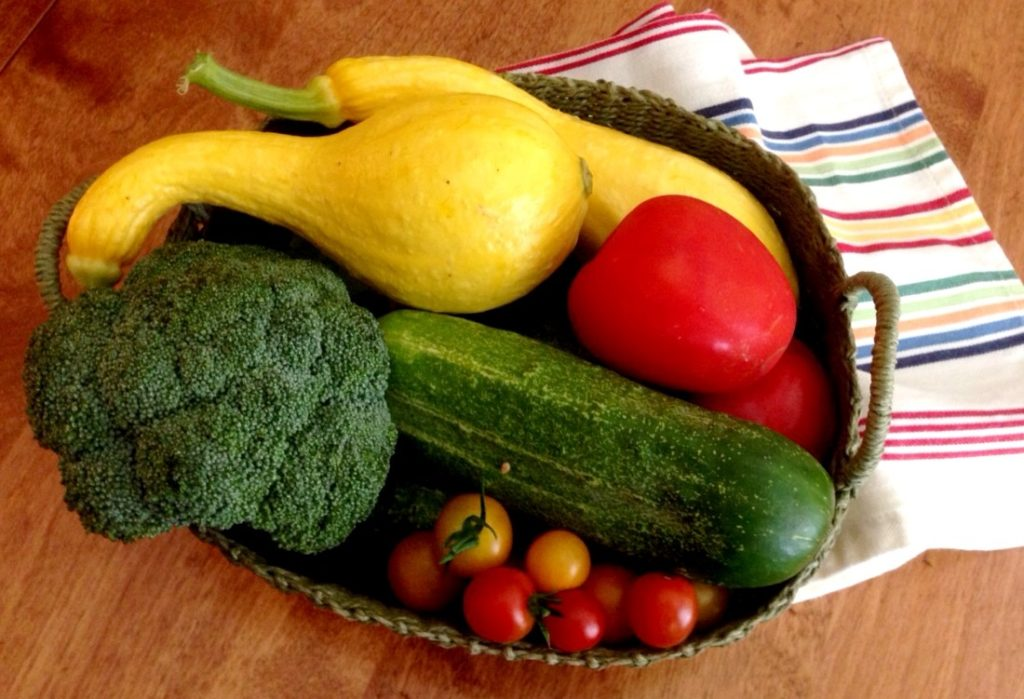 Garden Therapy! Fresh garden produce. www.mytributejournal.com