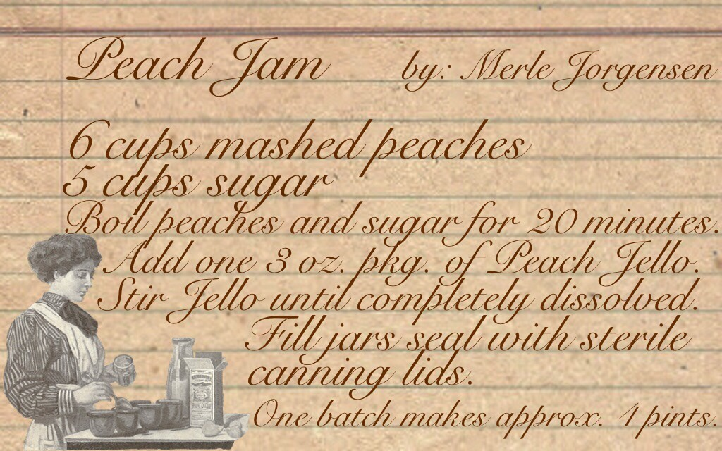 Peach Jam Recipe www.mytributejournal.com