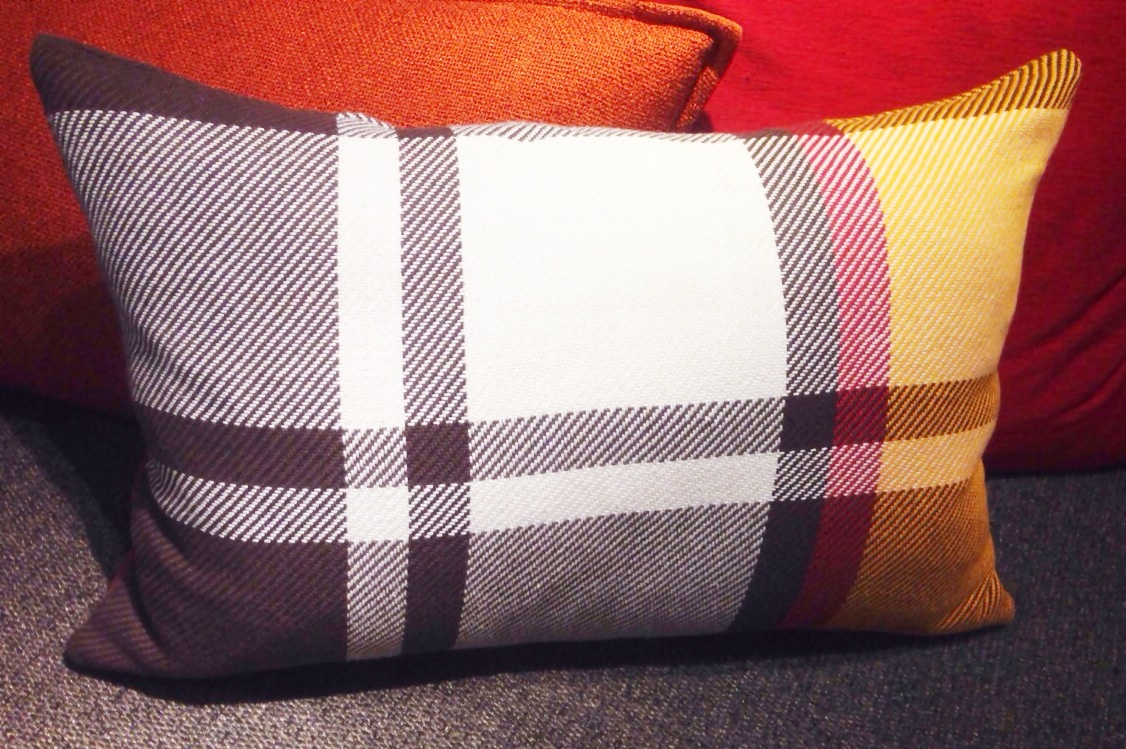 Crate & Barrel plaid pillow www.mytributejournal.com