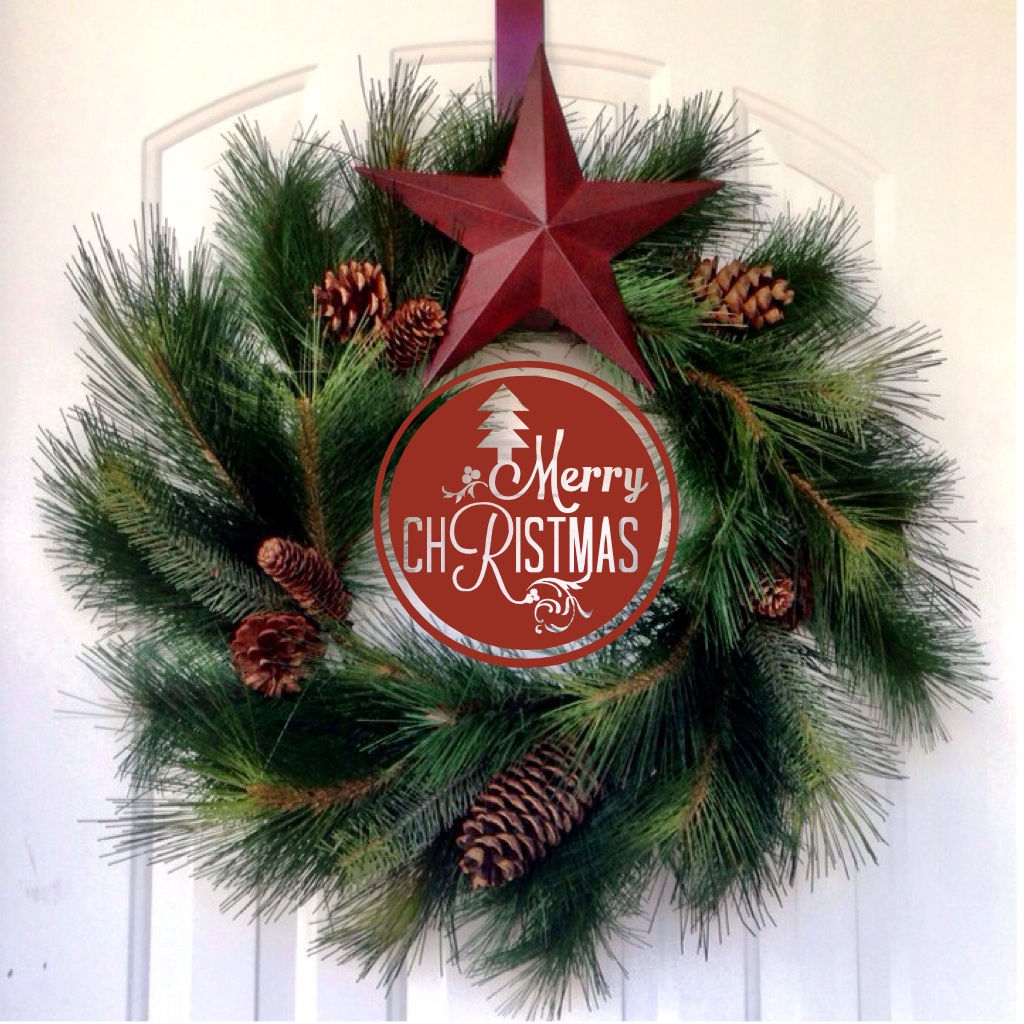 Pine bough christmas wreath www.mytributejournal.com