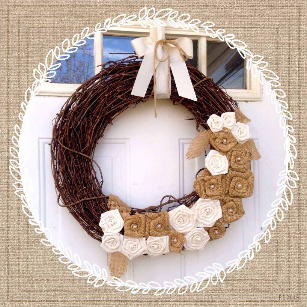 Burlap wreath www.mytributejournal.com