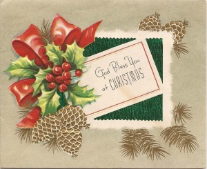 Vintage Christmas card www.mytributejournal.com