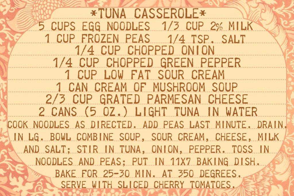 Tuna Casserole Recipe www.mytributejournal.com