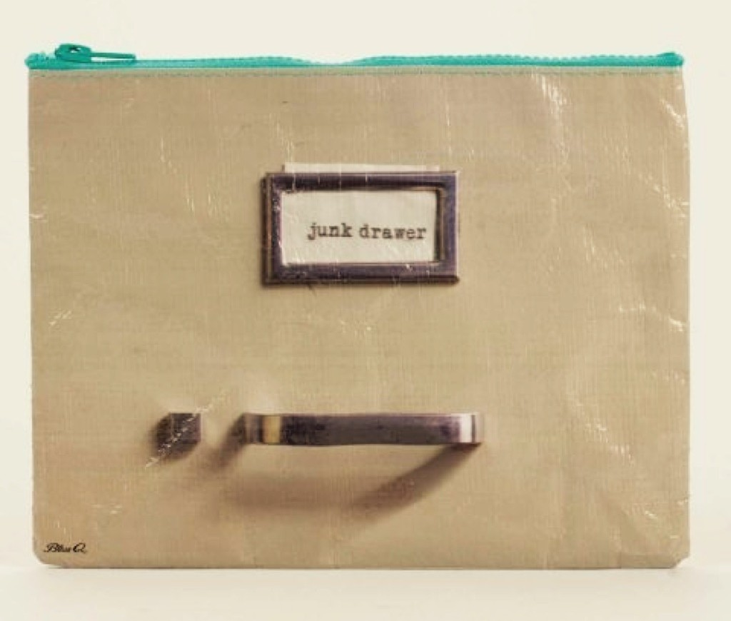 Junk Drawer Zipper Pouch by Blue Q.  www.mytributejournaol.com