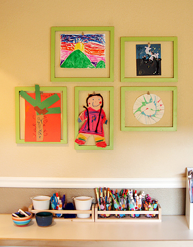 Fun Ways To Display Children's Art! www.mytributejournal.com