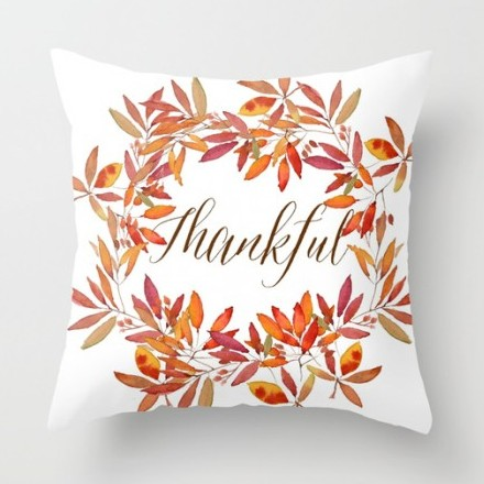 "Craftberrybush ""Thankful"" pillow."