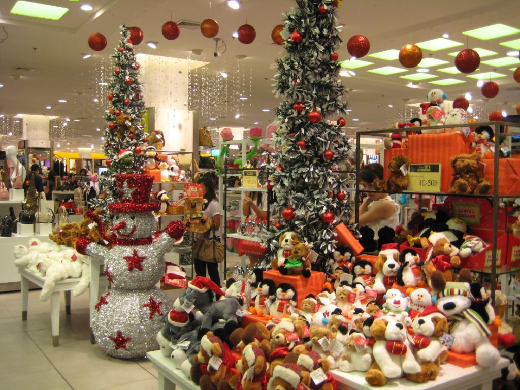 Christmas store displays!