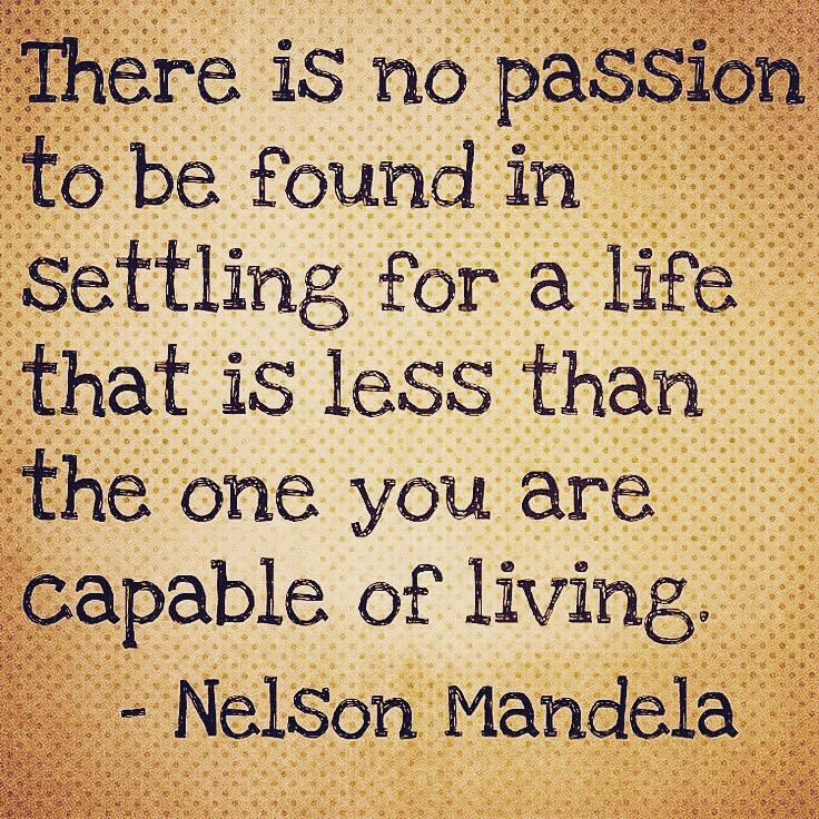 Nelson Mandela quote.