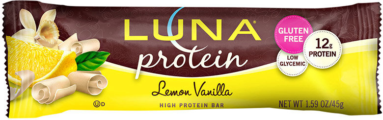 Luna lemon protein bar.