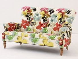 Anthropologie floral furniture.