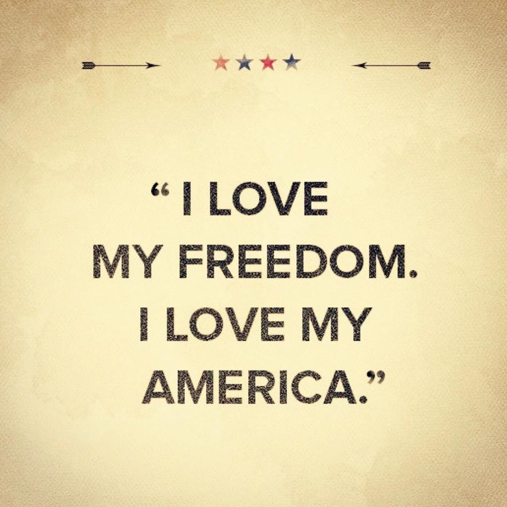 I Love America quote.