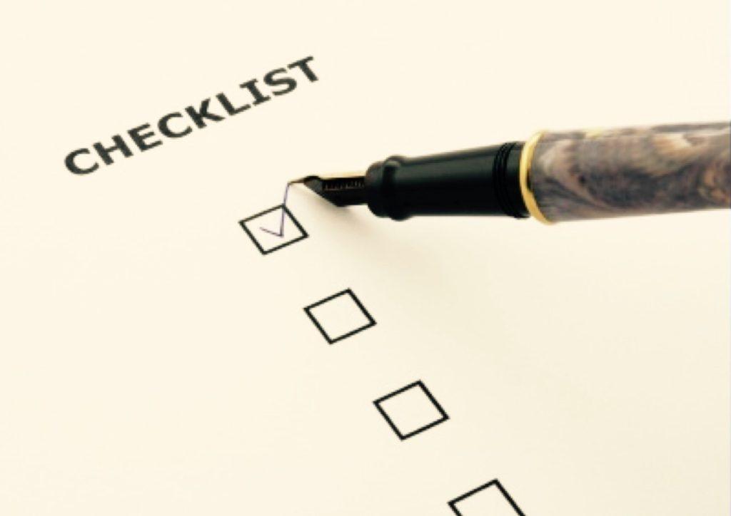College checklist.