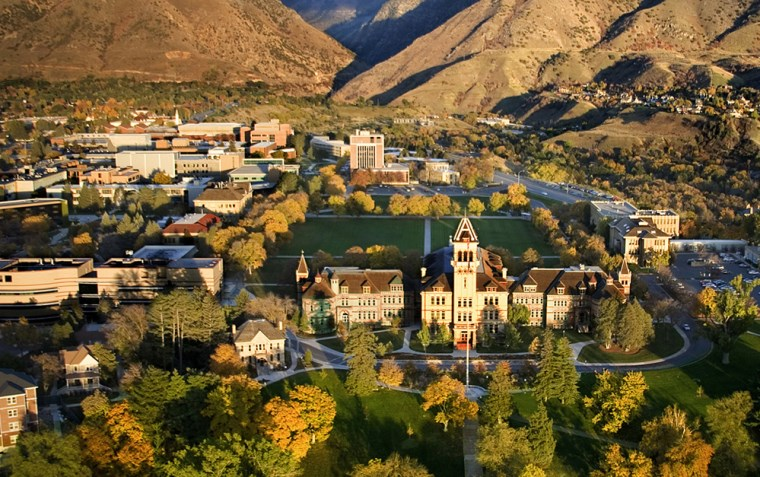 The campus of Utah Sate Univeristy.