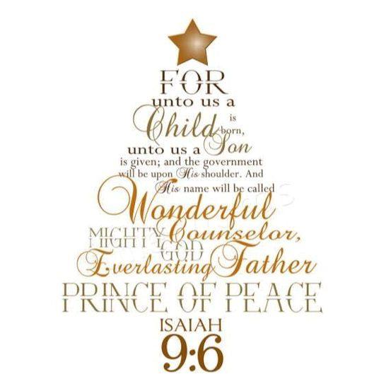 Santa's Prayer! Isaiah-9-6