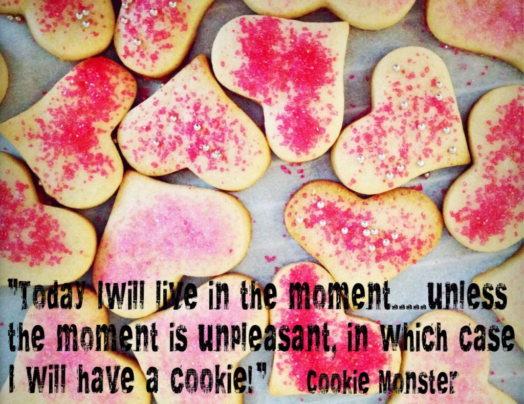 """Live in the Moment!"" quote."