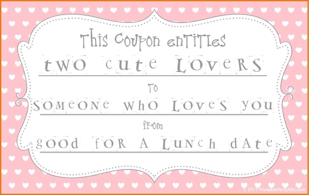 Valentine's Day coupon.