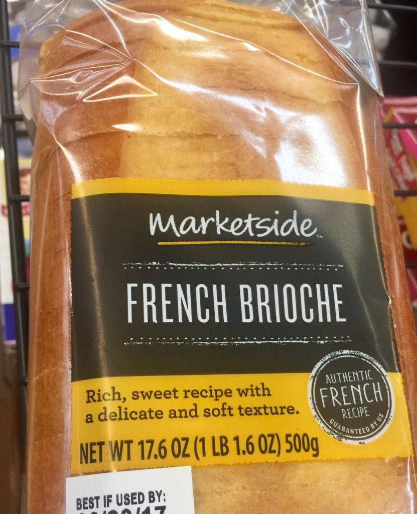 Brioche bread.