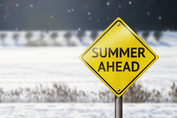 Summer ahead sign.