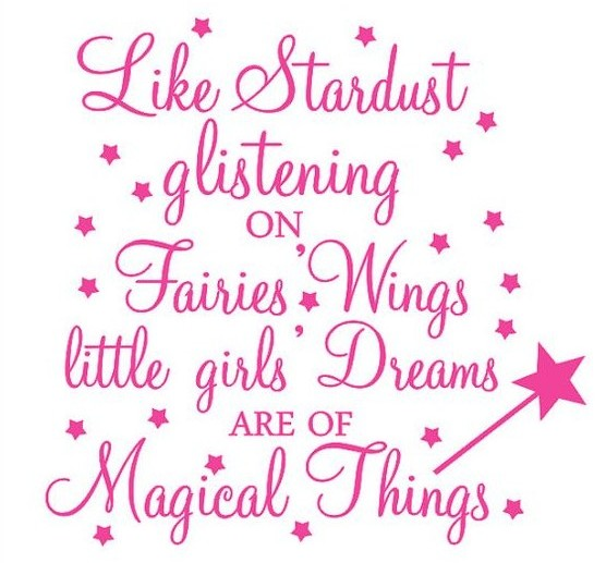 Fairy Stardust quote.