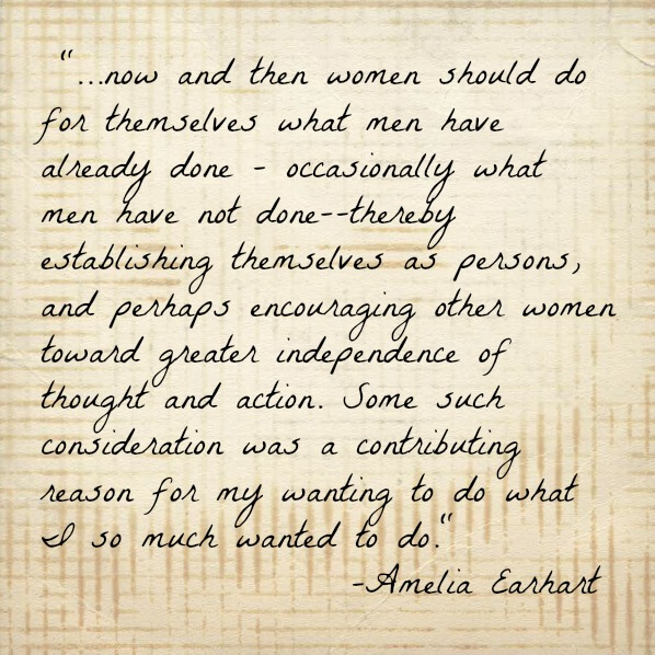 Strong Women quote by Amelia Earhart.