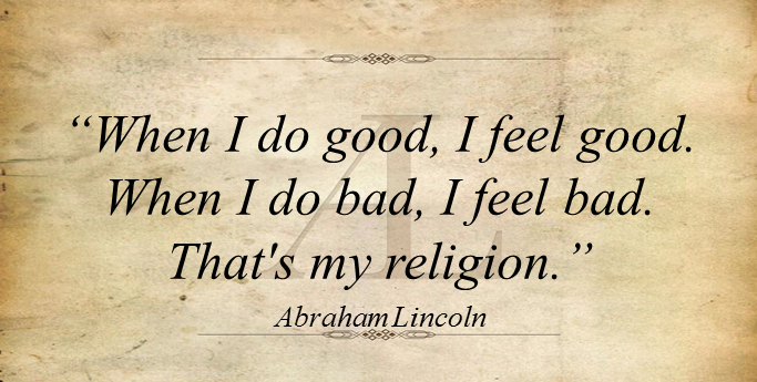 Abraham Lincoln quote.