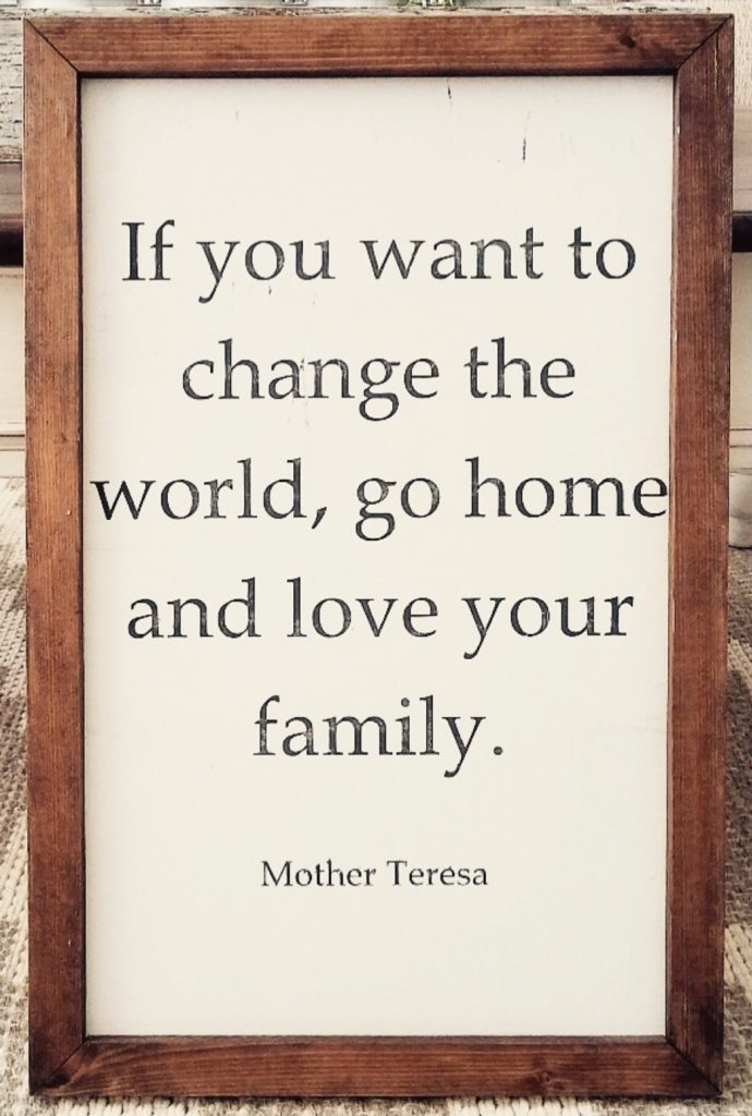 Mother Teresa quote.