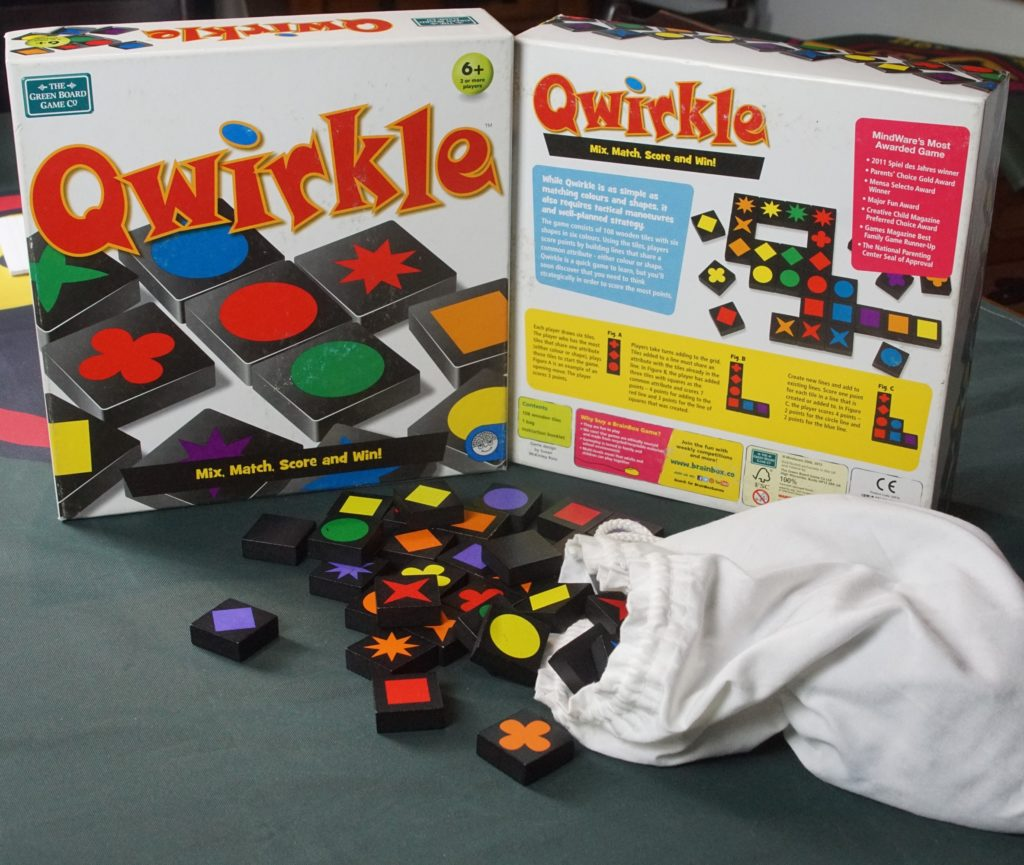 Qwirkle! Games for older kids.