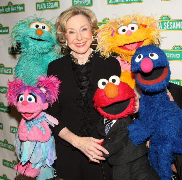 Joan Ganz Cooney: Sesame Street workshop co-founder.