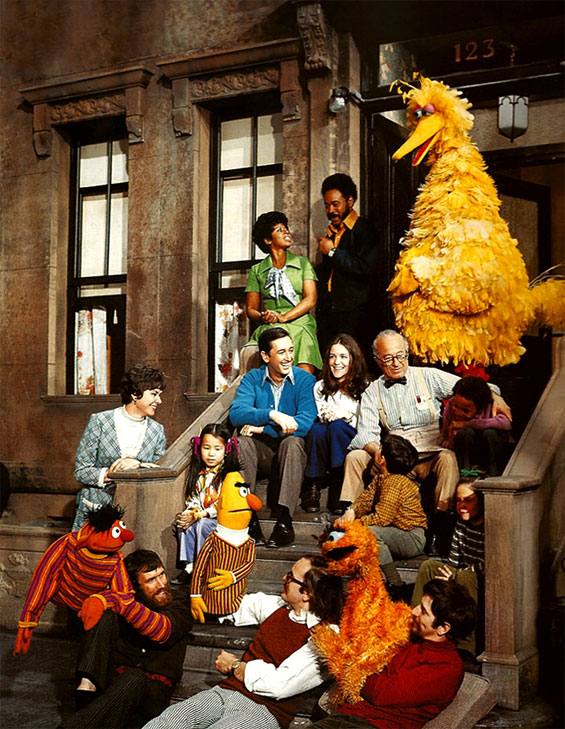 Sesmae Street with Jim Henson puppets.
