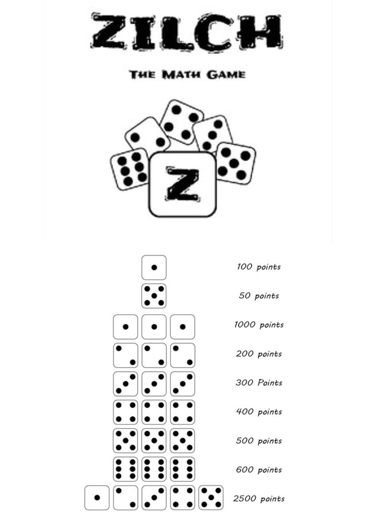 Zilch! Dice games for older kids.