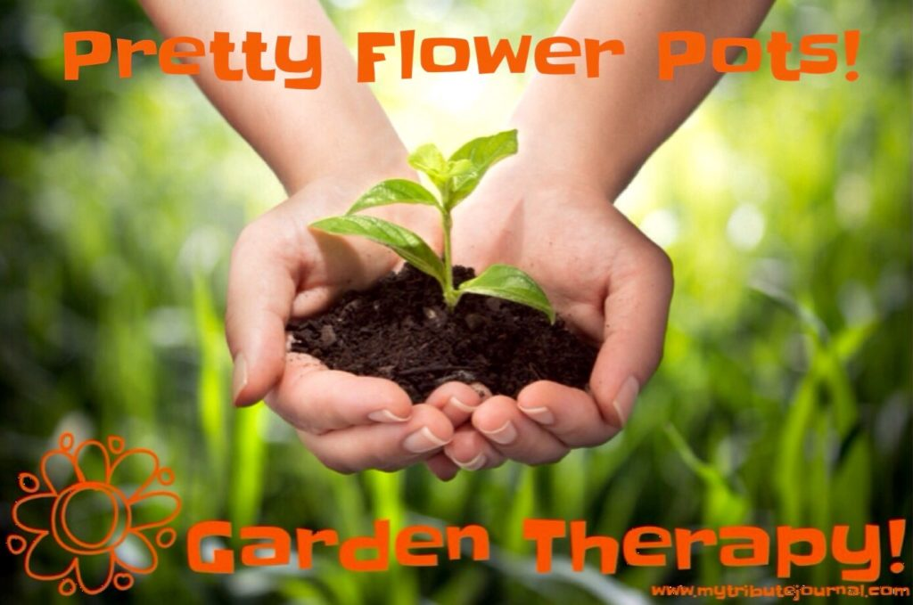 Garden Therapy! Pretty Flower Pots!