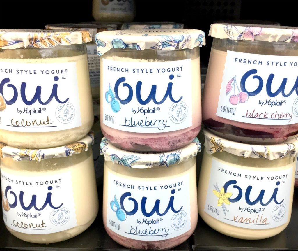 "Oui yogurt for apple ""cookies""!"