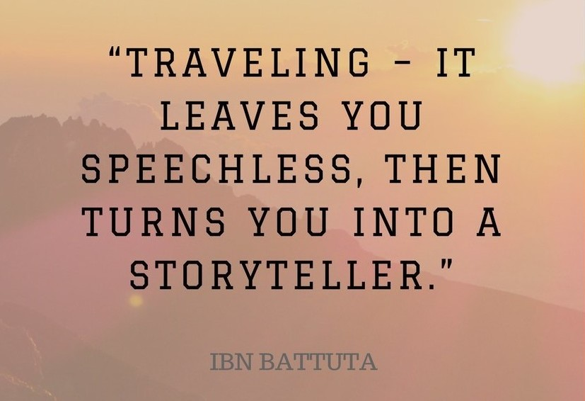 Travel quote.