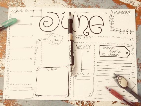 Planning a summer schedule.