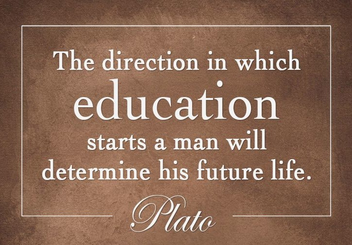 Plato quote on education.